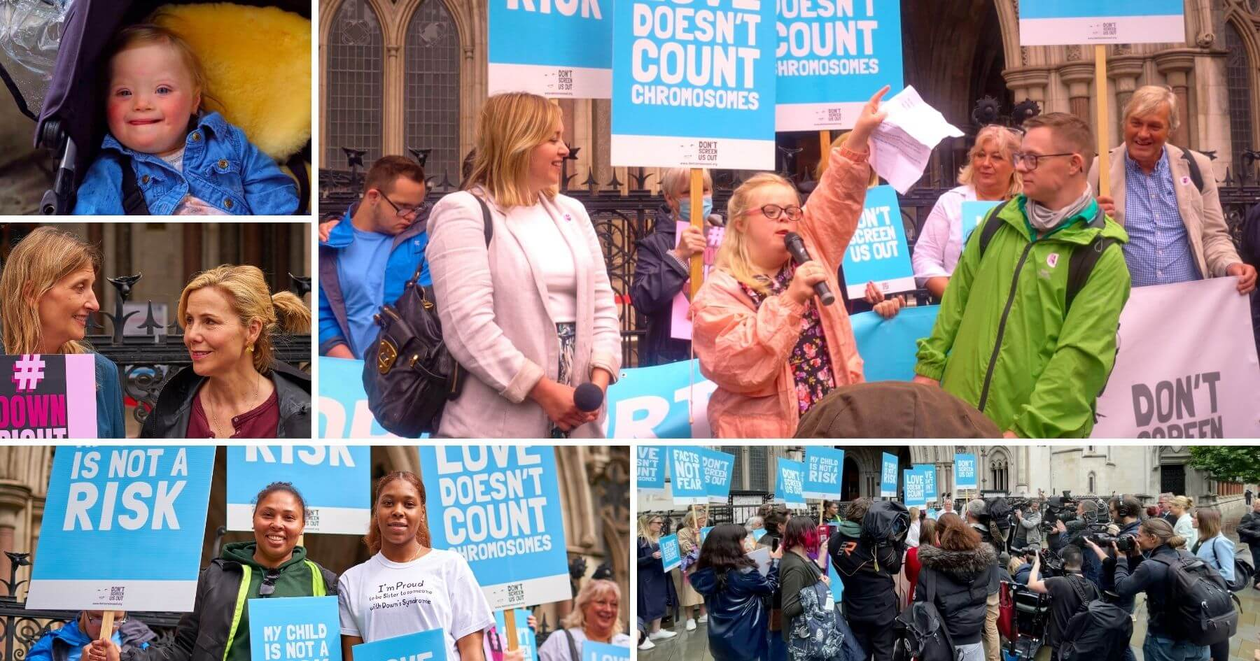 Disability rights campaigners rally outside High Court as case over discriminatory abortion law heard